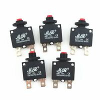 5Pcs 15A Circuit Breaker Overload Protector Switch Fuse