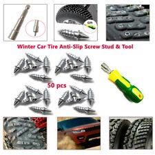 50PCS ATV SUV Car Tire Spike Stud Thorn Screw Anti-slip Snow Ice Nail+Tool Kits