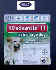 K9 ADVANTIX II for Dogs over 55 lbs 4pk (4 doses) !!! U.S EPA APPROVED !!!