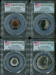 2018-S USA 10-COIN 50TH ANNIVERSARY SILVER SET PCGS PROOF 69 FIRST STRIKE