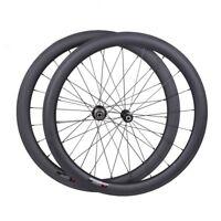 25mm wide Sapim CX-RAY 50mm Carbon Clincher Wheelset 700C Road Bike Rims UD matt
