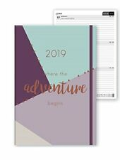 2019 Diary A5 Week to View Adventure Diary Soft Paper Cover with Elastic Closure