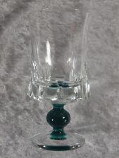 Friedrich Glas Kristallglas Weinglas Wasser Stiel grüne Kugel mundgeblasen 60er