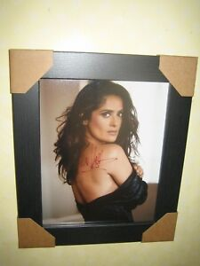 Salma Hayek Gorgeous Sexy Signed Photograph (8x10) Framed With CoA