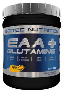 SCITEC NUTRITION EAA + GLUTAMINE AMINO ACIDS BCAA MANGO BEST BEFORE 5/21