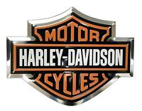 harley davidson raised 3d emblem fuel tank gas gear sticker HD decal aluminum