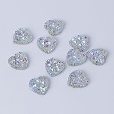 SALE 48 Gold Self Adhesive Crystal Heart Jewels