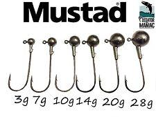 Round ball jig heads. 6/0 Mustad hooks.3pcs 3g-50g.spikey shad,lure fishing