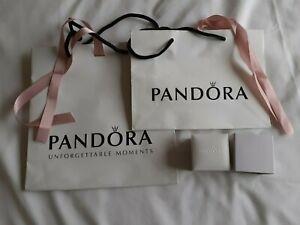 2 x Pandora Bags and 1 Charm Box