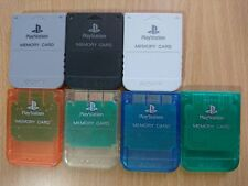 PS1 Genuine/Official Sony PlayStation 1 Memory Card PSX/PS2 SaveGame [SCPH-1020]