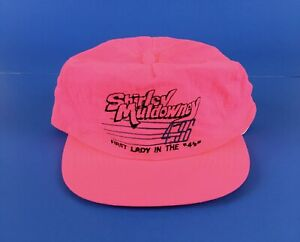 Shirley Muldowney Hot Pink Vintage Hat First Lady In The 4's Drag Racing NOS