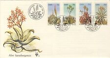 Aloe Flowers Pictorial PM Unaddressed SWA Illustrated FDC 14/8/81