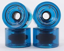 76mm 78a Gel Soft Longboard Wheels (Logo Clear Blue)