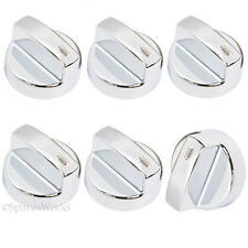 LEISURE Genuine Oven Cooker Temperature Hob Switch Knobs Silver x 6