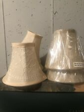 Set of Six Chandelier Shades Ivory Design