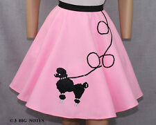 4 PC Pink 50's Poodle Skirt Girl Sizes 7,8,9,10