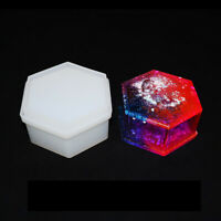 DIY Resin Craft Crystal Epoxy Hexagonal Jewelry/Gift Storage Box Silicone Mold