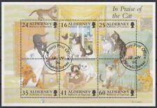 Alderney MiNr. Bl. 2 O Katzen