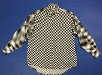 News fashion camicia uomo M luxury shirt manica lunga quadri usato vintage T3591