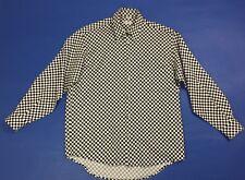 News fashion camicia uomo M luxury shirt manica lunga quadri usato vintage T3591