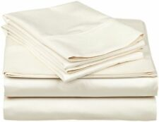 1000 Thread Count Egyptian Cotton Bedding Collection All Size Ivory Solid Color