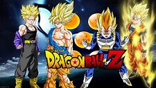 Poster 42x24 cm Dragon Ball Z Gohan Trunks Goku Vegeta Super Saiyans 04