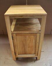 Damaged Solid Oak 46cm x 46cm Vanity Bedside Cabinet Cupboard TV Cabinet