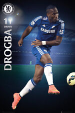 Rare DIDIER DROGBA SOCCER SUPERSTAR Chelsea FC EPL Action POSTER