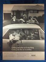 Vintage Magazine Ad Print Design Advertising GMAC Financing