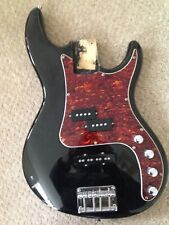 ELECTRIC BASS GUITAR FULLY LOADED BODY DUAL PICK UPS 4 KNOBS GC please read