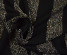 Stoff Jersey Strick schwarz glitzer gestreift Streifen Grob Viskose 14€/m