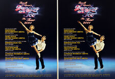 2 X TORVILL AND DEAN DANCING ON ICE 2011 TOUR FLYERS  - TORVILL & DEAN