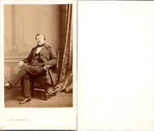 CDV Levitsky, Paris, Homme en pose, circa 1860 Vintage CDV albumen carte de visi