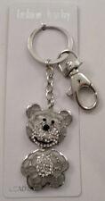 Rhinestone Bling Jelly Belly Teddy Bear Key Chain Purse Fob
