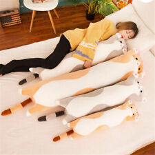 Large Sleeping Pillow Comfort Kitten Stuffed  Long Cute Cat Doll Plush Toy Soft