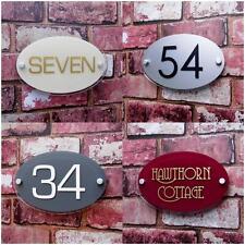 Personnalisé Signe Numéro De Porte Maison Rue Adresse Nom Plaque OVALE Verre