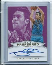 Nick Collison 2013-14 Preferred *Purple Autograph* NBA /25