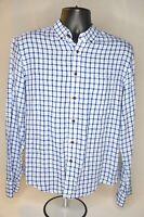 UNTUCKit Mens Blue Plaid Button Front Long Sleeve Slim Fit Shirt Sz M