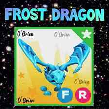 ❄️ (FR) FROST DRAGON ❄️ with Fly Ride. Adopt Me. Roblox.