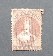 New Zealand 1862 6d Brown CHALON Fine Used