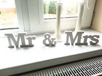 Wedding Sign Solid Wooden Letters Mr Mrs Letters Table Numbers Decoration 1 Set