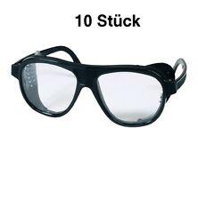 10 Stück Schutzbrille EN166 Kunststoff mit Seitenblenden - verstellbare Bügel