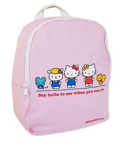 Hello Kitty Sanrio Pink Leather School Backpack Kawaii Japan Cute Girls Kids Bag