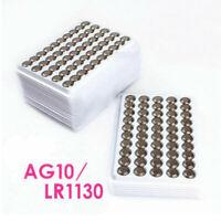 New 50Pcs LR1130 AG10 389 LR54 1.5V Alkaline Coin Button Cells Battery