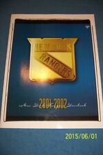 2001 2002 NEW YORK RANGERS Yearbook MARK MESSIER Mike RICHTER Lindros LEETCH