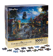 DISNEY PARKS THOMAS KINKADE PUZZLE THE CURSE OF THE BLACK PEARL 1000 PCS PIRATES