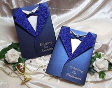 Einladung Zur Kommunion Konfirmation BLAU Weiß SAKKO Doppelkarte Mit  Umschlag