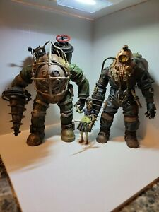 Neca Bioshock Subject Delta, Big Daddy Bouncer w/ lights, and Little Sister