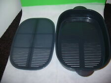 Tupperware Oval Microwave Cooker Replacement Gray Steamer Basket 4148 & Rack