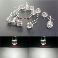 100PCS DIP LED 8mm White 6000k 0.5 Watt Wide Angle Bright High Power LEDs 0.5w